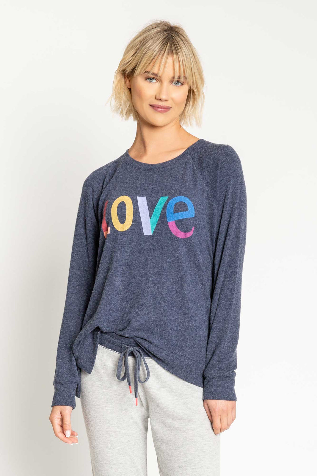 PJ Salvage-Love long sleeve lounge top
