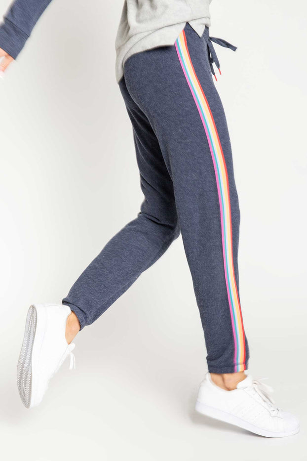 PJ Salvage-rainbow side stripe jogger