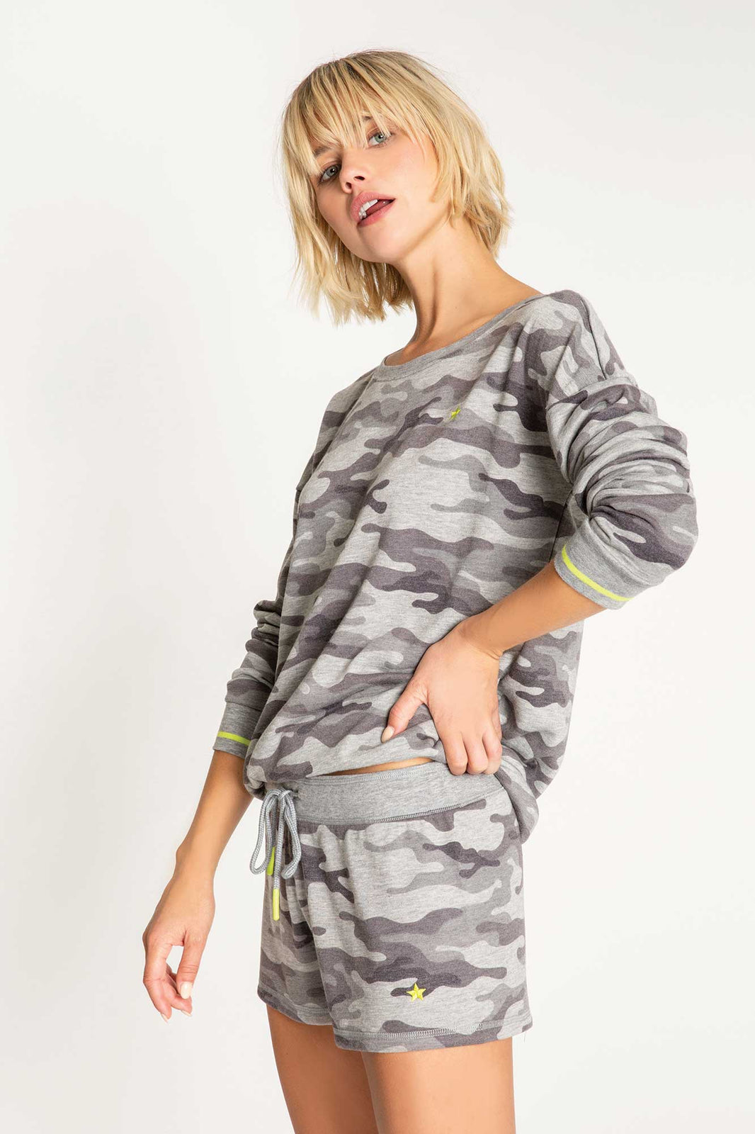 PJ Salvage-Camo Long Sleeve Top