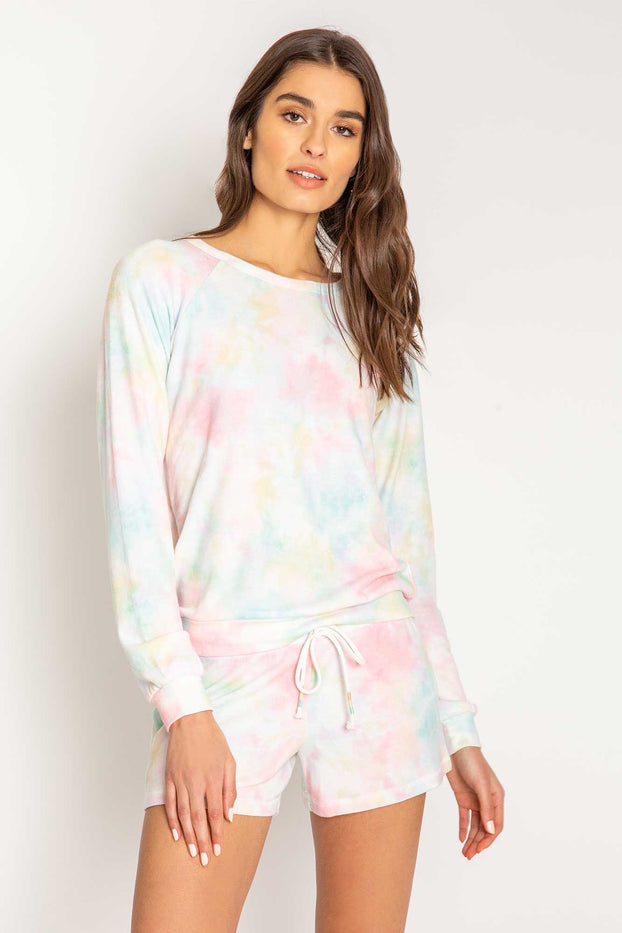 PJ Salvage-Tie Dye Long Sleeve Top