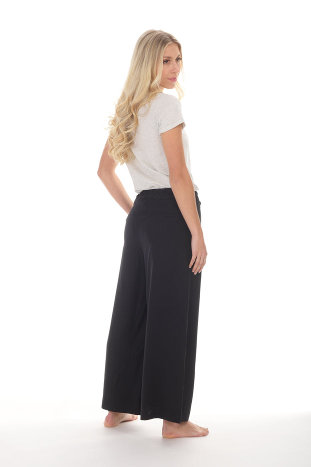 Paper Label- Black Wide Leg Pant
