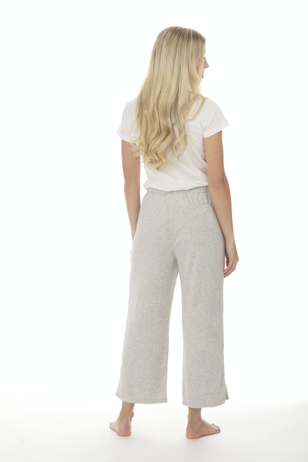 Ezra- French Terry Wide Lounge Pant by Paper Label.