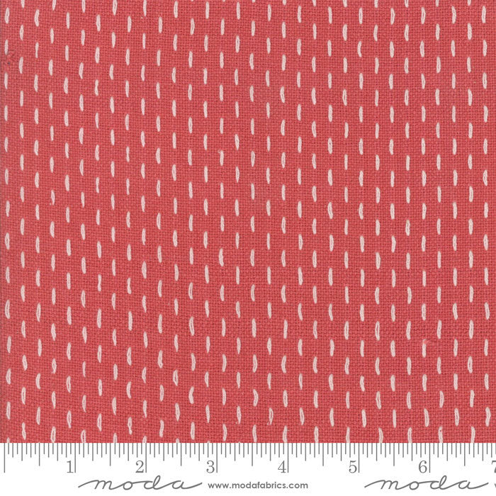 French Sashiko Faded Red