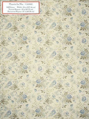 Home Decorative Fabric - Florette La Mer