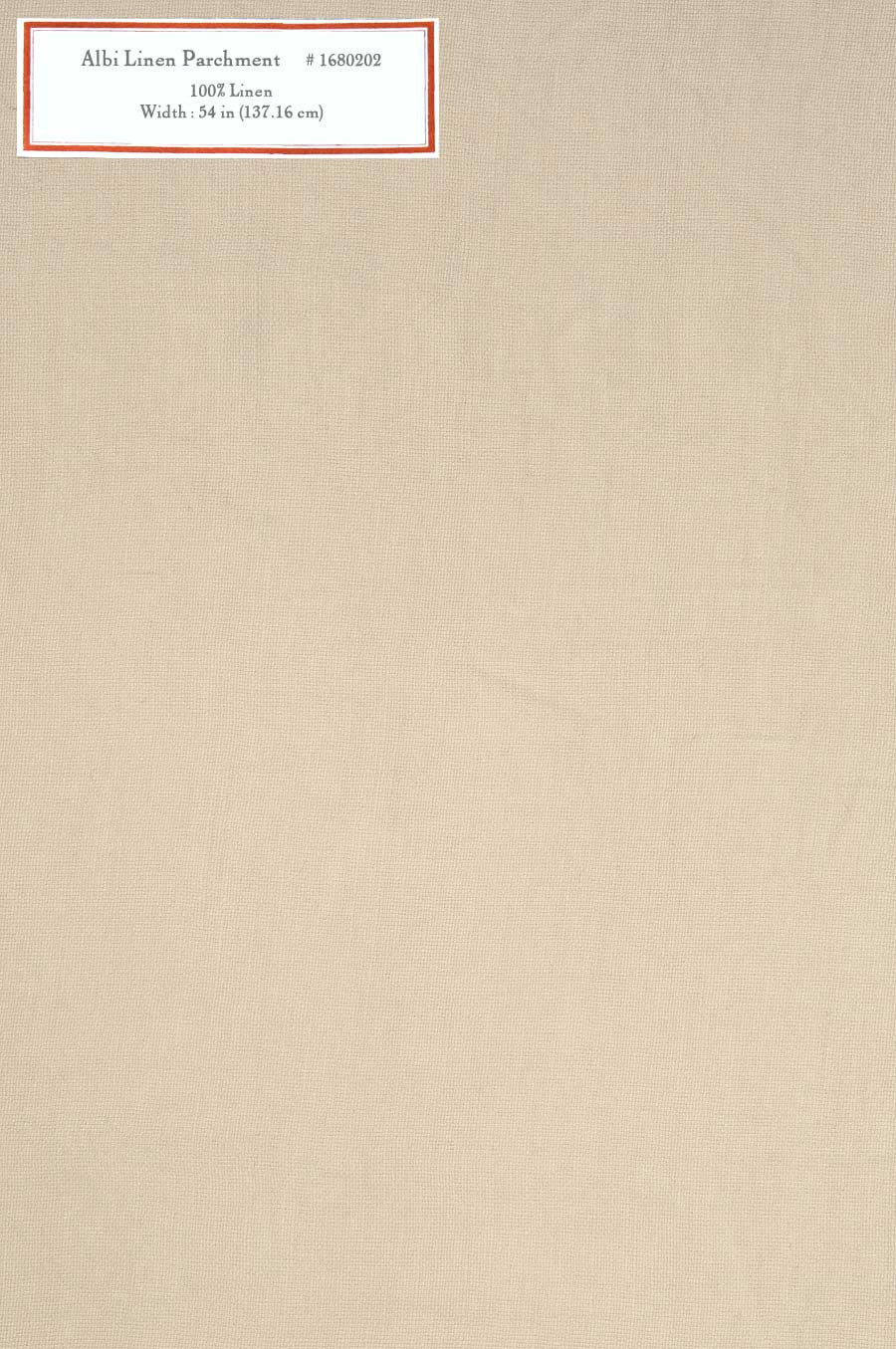 Home Decorative Fabric - Albi Linen Parchment