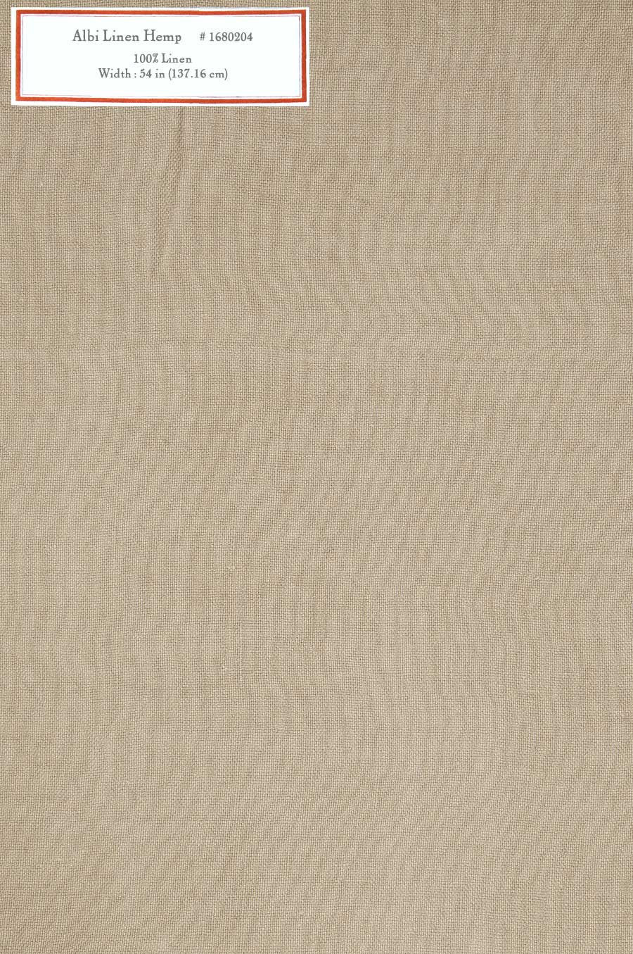 Home Decorative Fabric - Albi Linen Hemp
