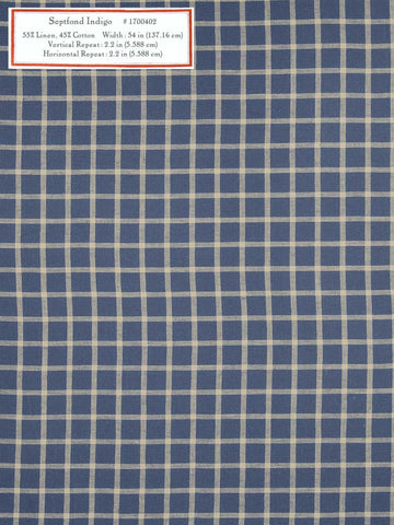 Home Decorative Fabric - Septfond Indigo