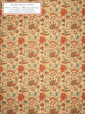 Home Decorative Fabric - Josephine Rouge