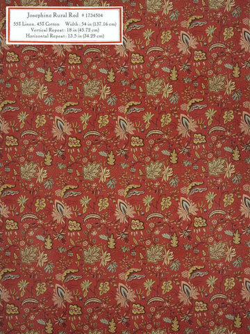 Home Decorative Fabric - Josephine Rural Red