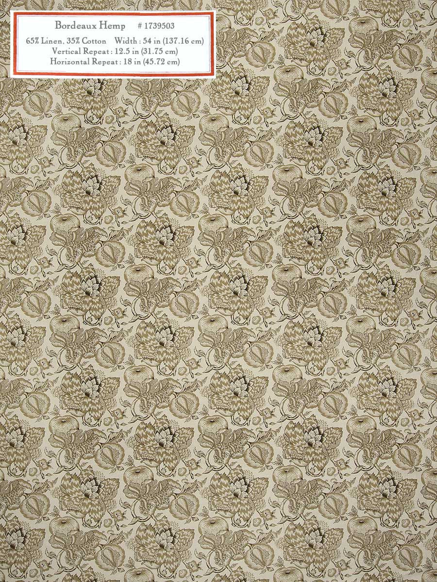 Home Decorative Fabric - Bordeaux Hemp