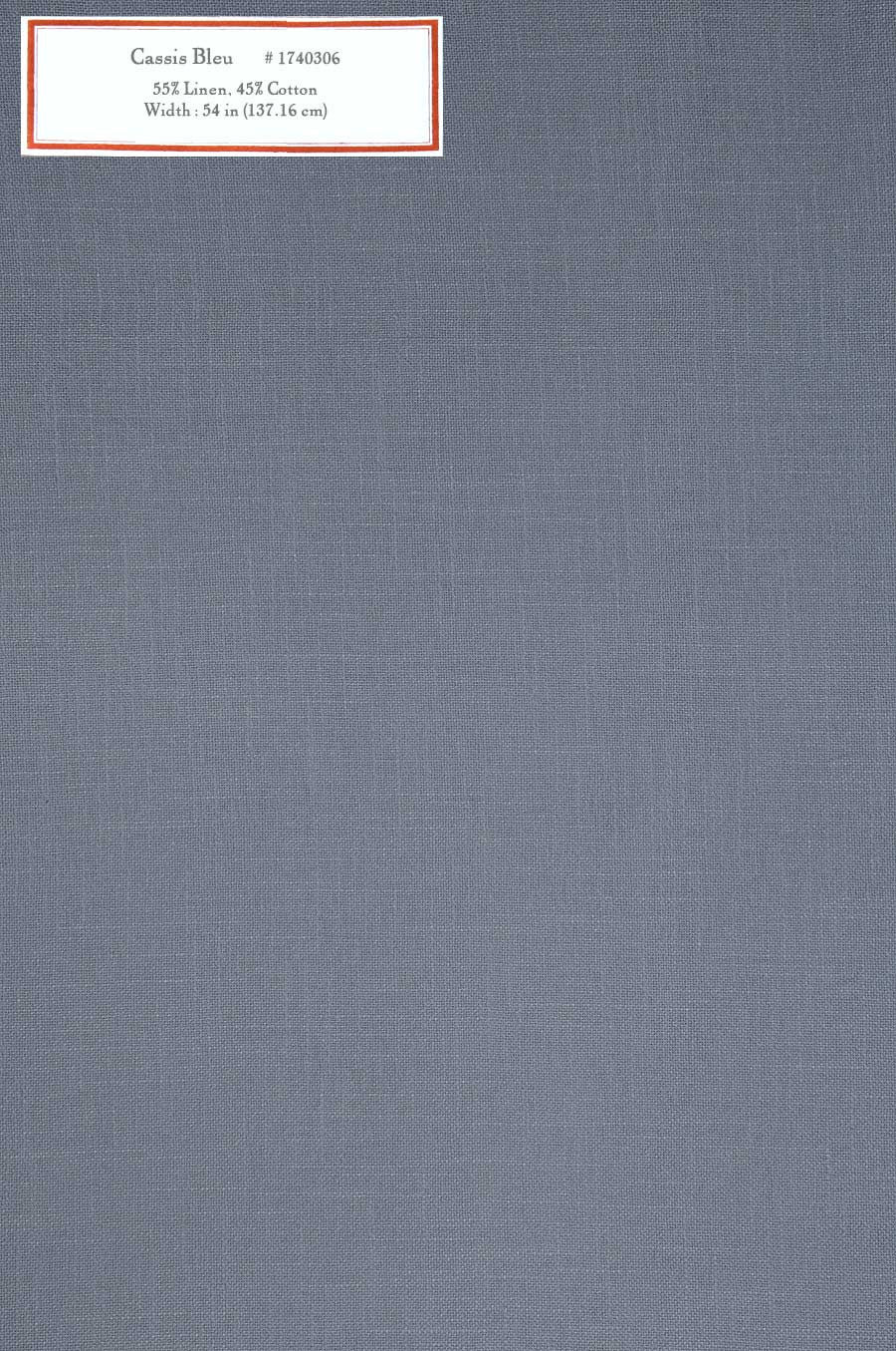 Home Decorative Fabric - Cassis Bleu