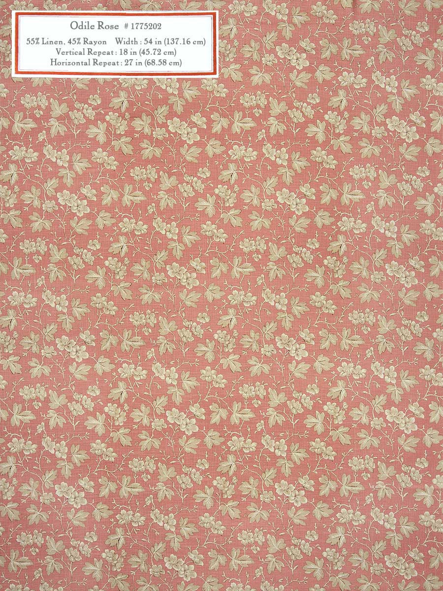 Home Decorative Fabric - Odile Rose