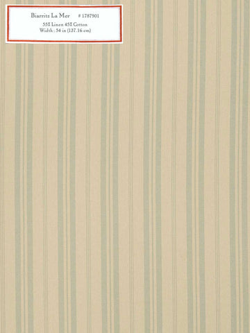 Home Decorative Fabric - Biarritz La Mer