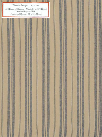 Home Decorative Fabric - Biarritz Indigo