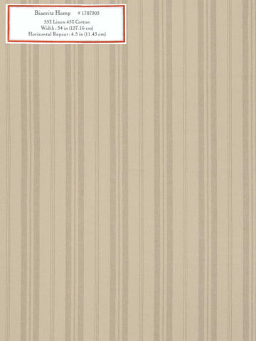 Home Decorative Fabric - Biarritz Hemp