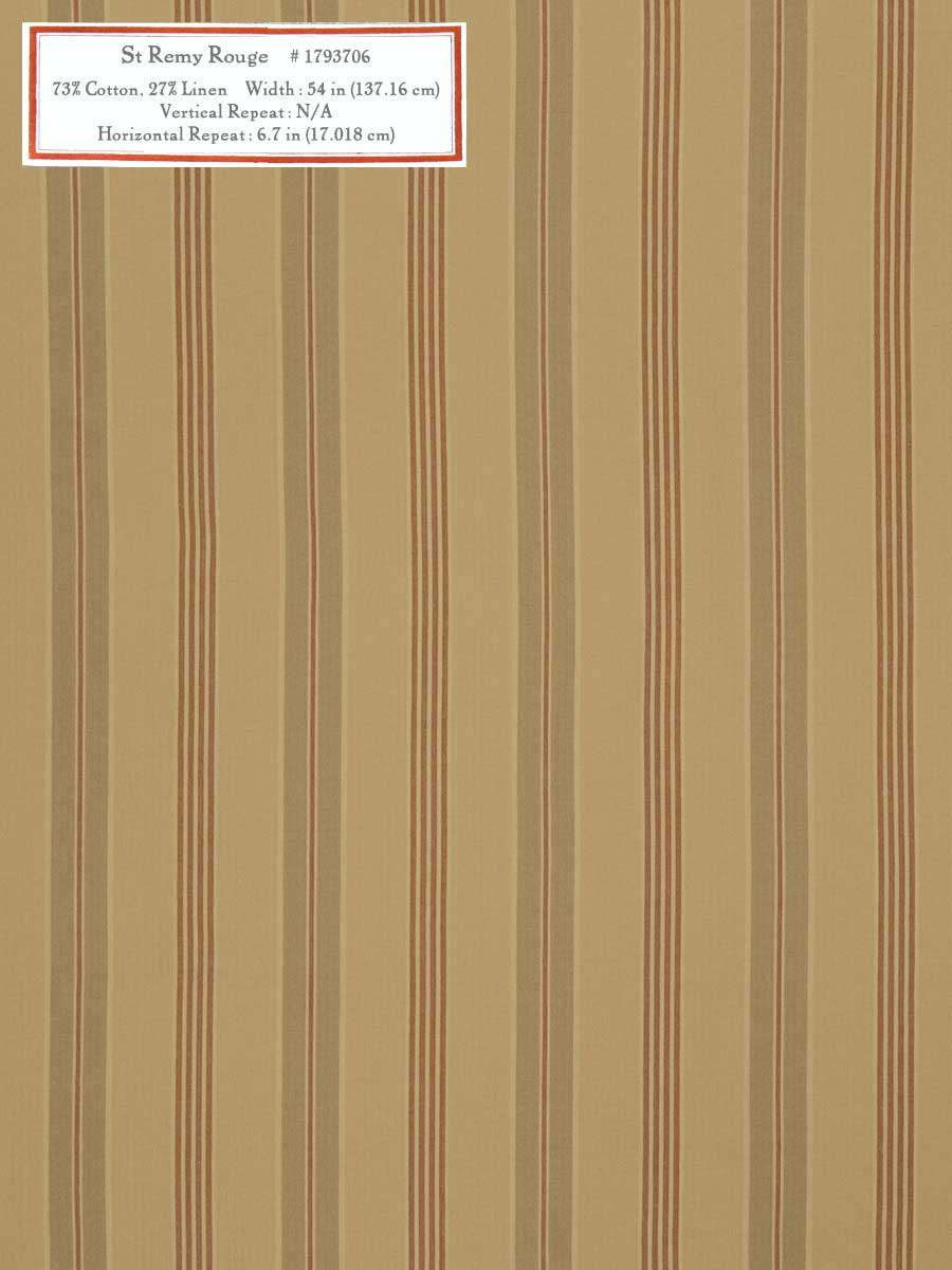 Home Decorative Fabric - St Remy Rouge