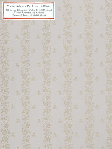 Home Decorative Fabric - Maison Gabriel Parchment