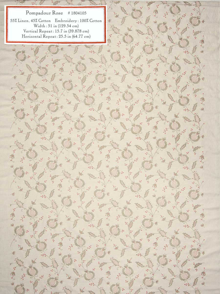Home Decorative Fabric - Pompadour Rose