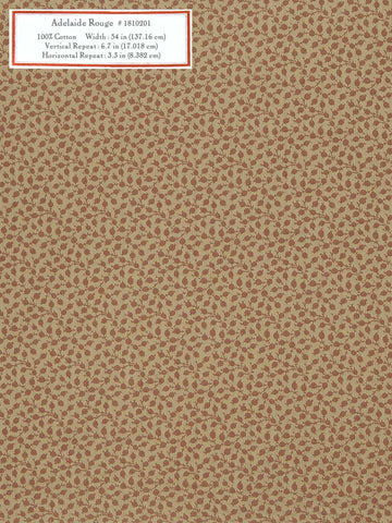 Home Decorative Fabric - Adelaide Rouge