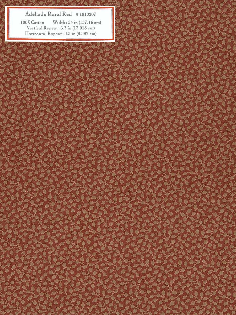 Home Decorative Fabric - Adelaide Rural Red