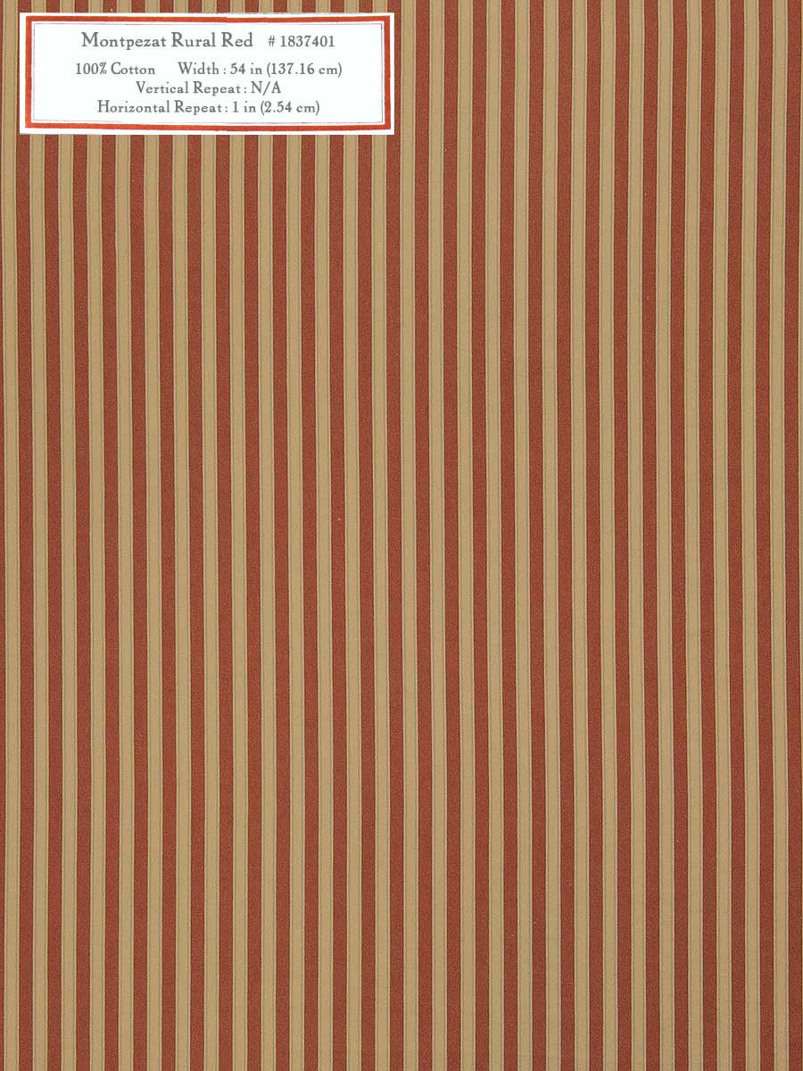 Home Decorative Fabric - Montpezat Rural Red