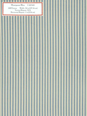 Home Decorative Fabric - Montpezat Bleu
