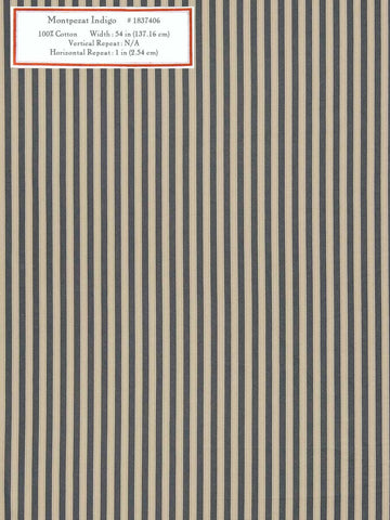 Home Decorative Fabric - Montpezat Indigo