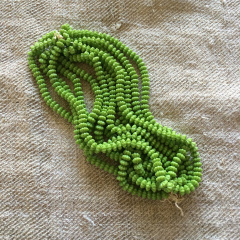 Flower Beads - Apple Green