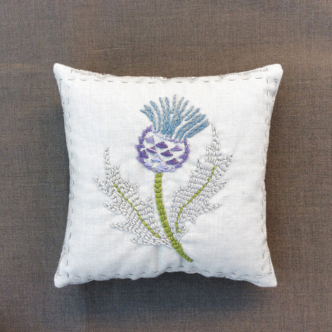 Thistle Embroidery Sachet Kit