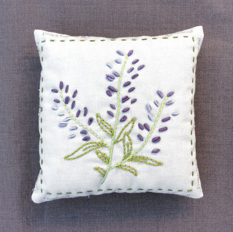 Lavender Embroidery Sachet Kit