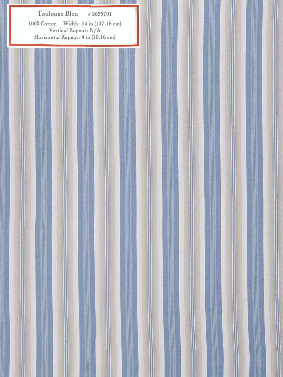 Home Decorative Fabric - Toulouse Bleu