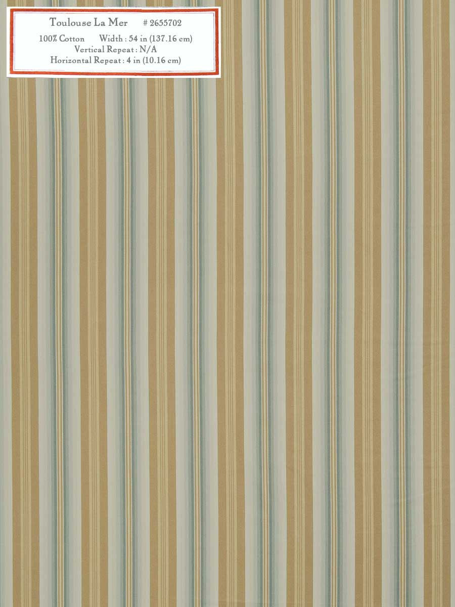 Home Decorative Fabric - Toulouse La Mer