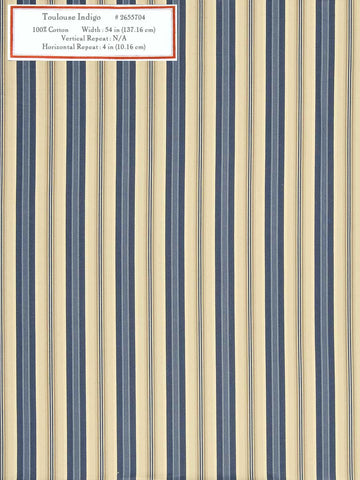Home Decorative Fabric - Toulouse Indigo