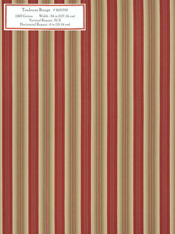 Home Decorative Fabric - Toulouse Rouge