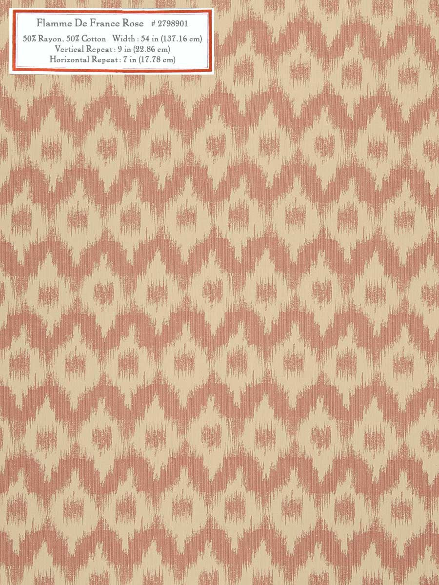 Home Decorative Fabric - Flamme De France Rose