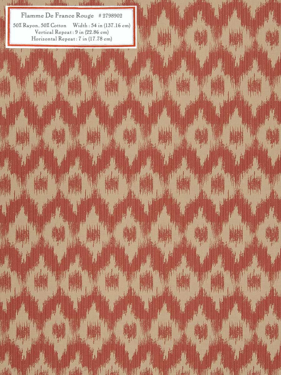 Home Decorative Fabric - Flamme De France Rouge