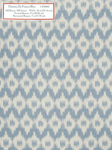 Home Decorative Fabric - Flamme De France Bleu