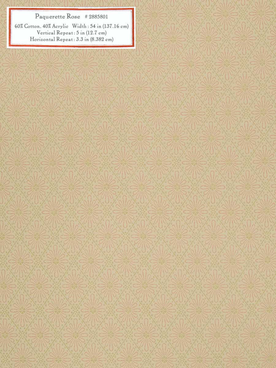 Home Decorative Fabric - Paquerette Rose