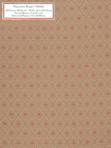 Home Decorative Fabric - Paquerette Rouge