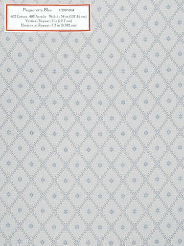 Home Decorative Fabric - Paquerette Bleu