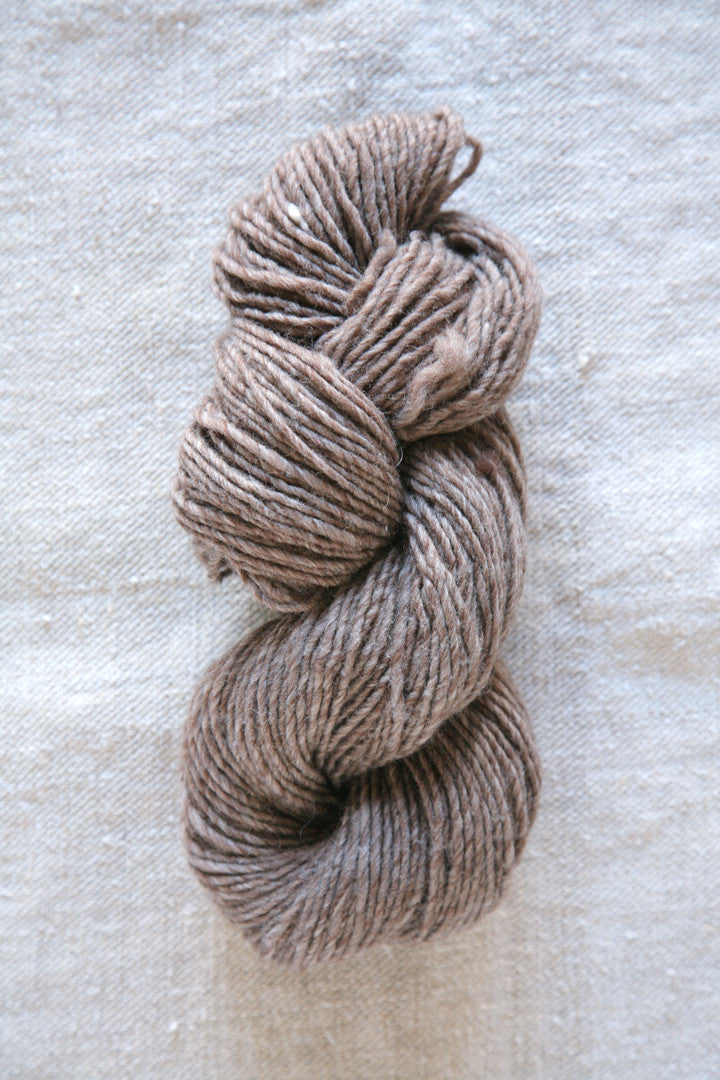 Dark Brown Graphite Wool Skein