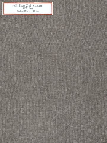 Home Decorative Fabric - Albi Linen Coal