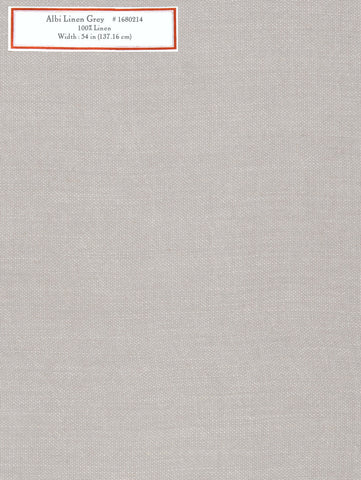 Home Decorative Fabric - Albi Linen Grey