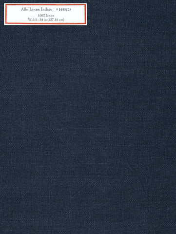 Home Decorative Fabric - Albi Linen Indigo