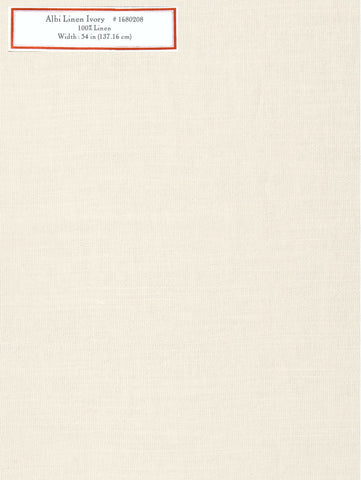 Home Decorative Fabric - Albi Linen Ivory