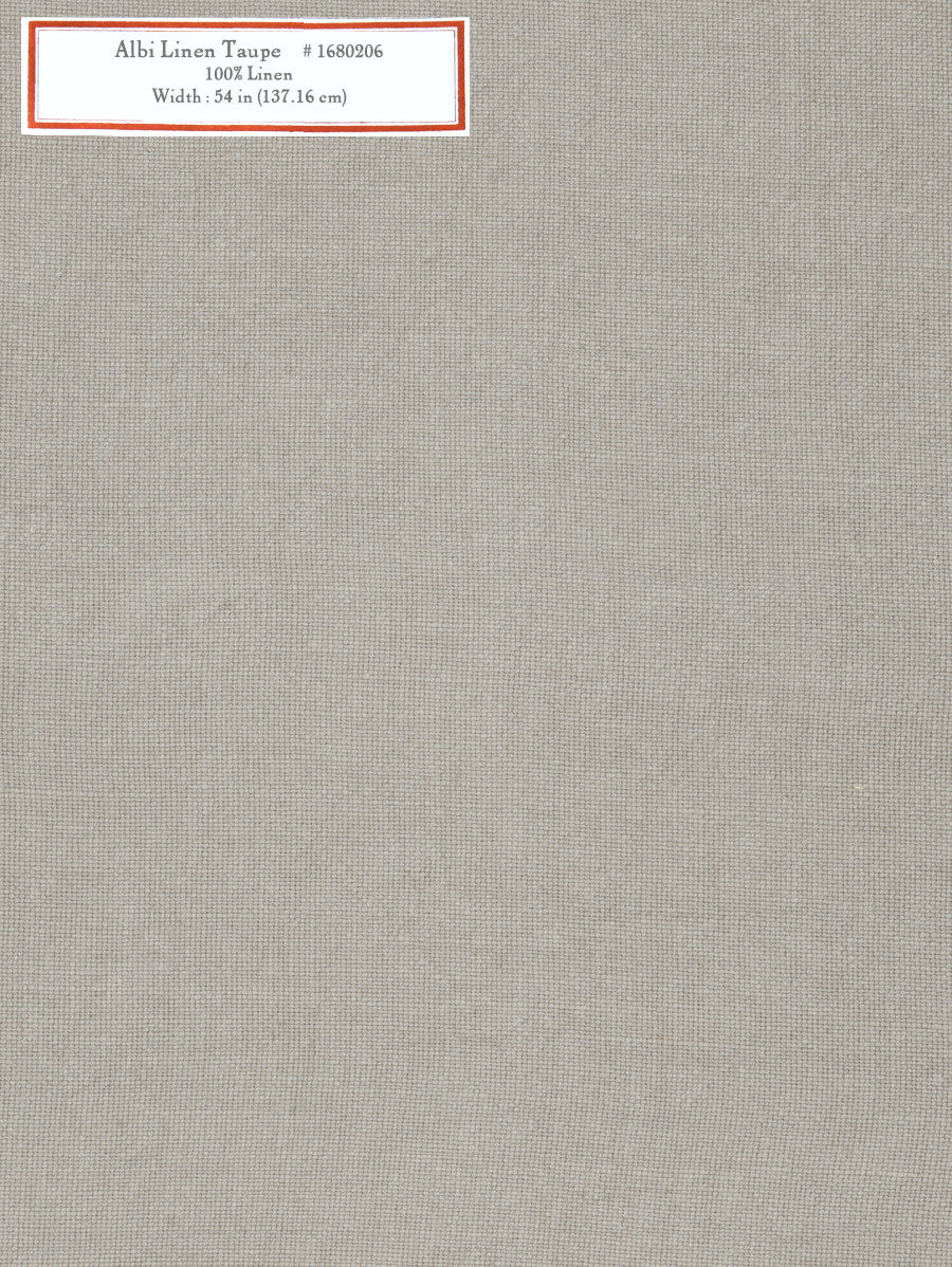 Home Decorative Fabric - Albi Linen Taupe