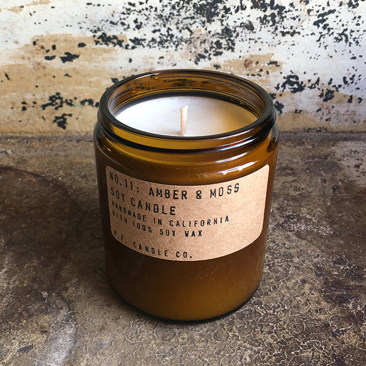 Soy Candle - Amber and Moss