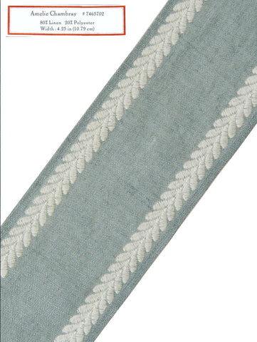 Home Decorative Trim - Amelie Chambray