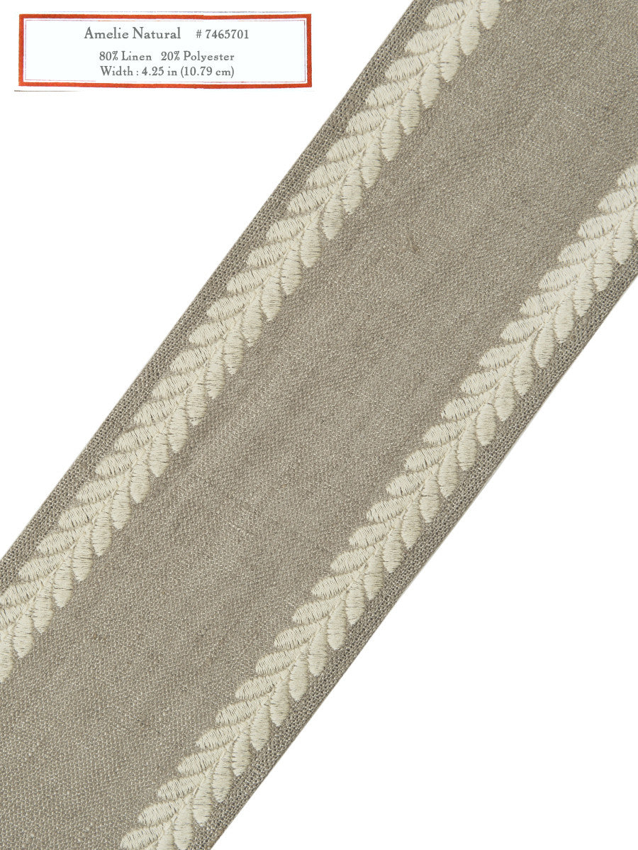 Home Decorative Trim - Amelie Natural