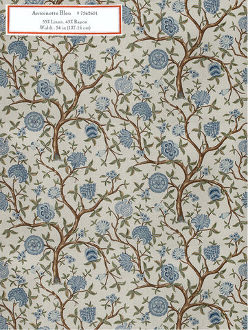Home Decorative Fabric - Antoinette Bleu